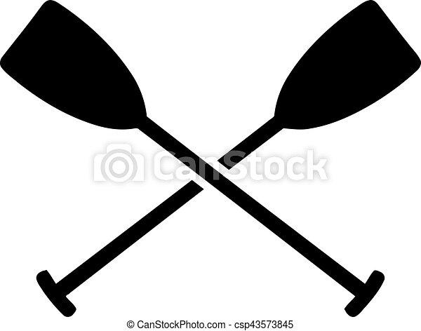 Paddles Crossed Eps Vector