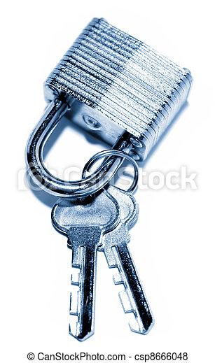Padlock and keys - csp8666048
