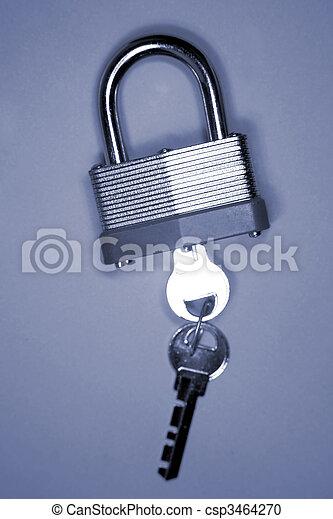 Padlock and keys - csp3464270