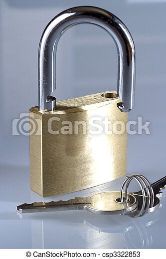 Padlock and keys - csp3322853