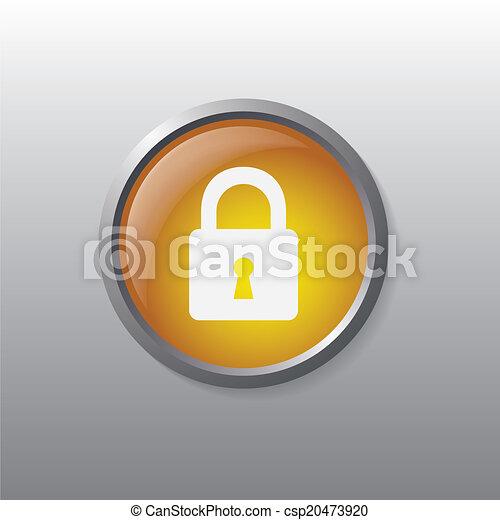 Padlock button - csp20473920