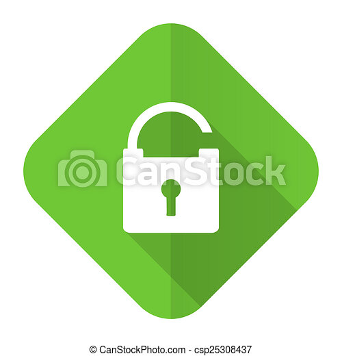 padlock flat icon secure sign - csp25308437