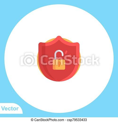 Padlock flat vector icon sign symbol - csp79533433