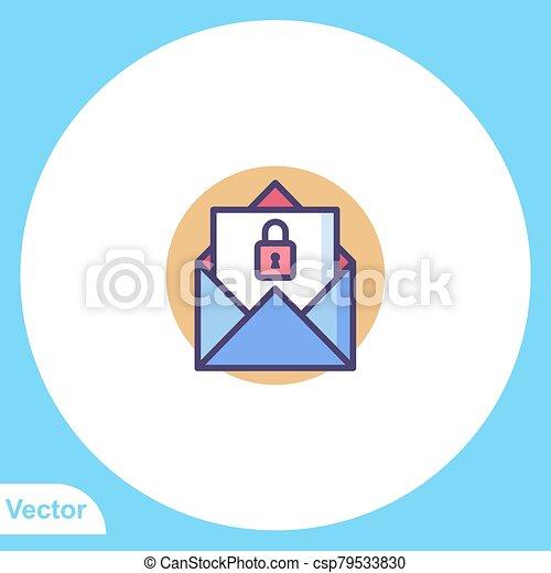 Padlock flat vector icon sign symbol - csp79533830