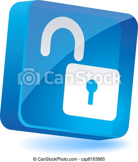 Padlock Icon. - csp8163865