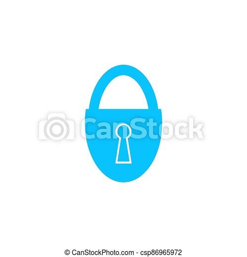 Padlock icon flat. - csp86965972