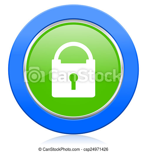 padlock icon secure sign - csp24971426