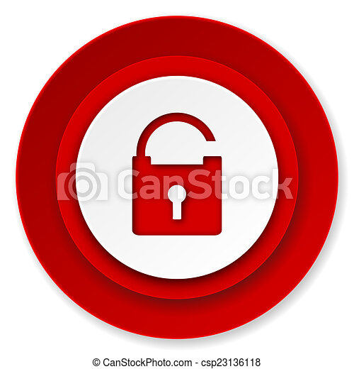 padlock icon, secure sign - csp23136118