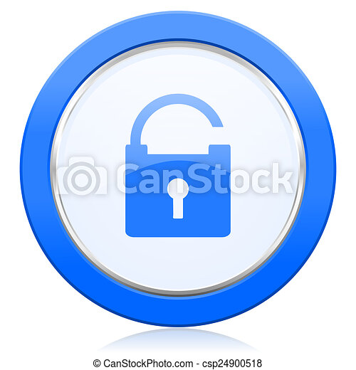 padlock icon secure sign - csp24900518