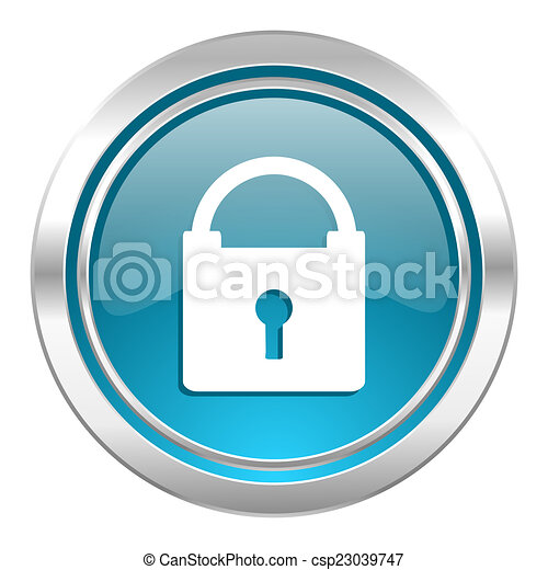 padlock icon, secure sign - csp23039747