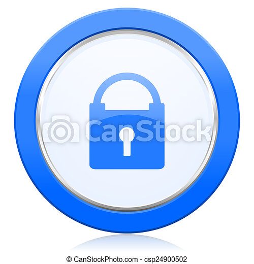 padlock icon secure sign - csp24900502