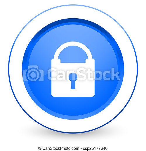 padlock icon secure sign - csp25177640