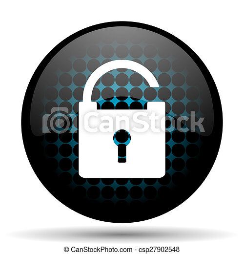 padlock icon secure sign - csp27902548