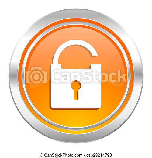 padlock icon, secure sign - csp23214793