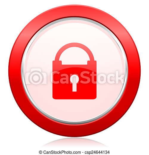 padlock icon secure sign - csp24644134