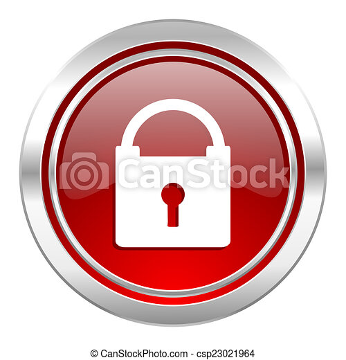 padlock icon, secure sign - csp23021964