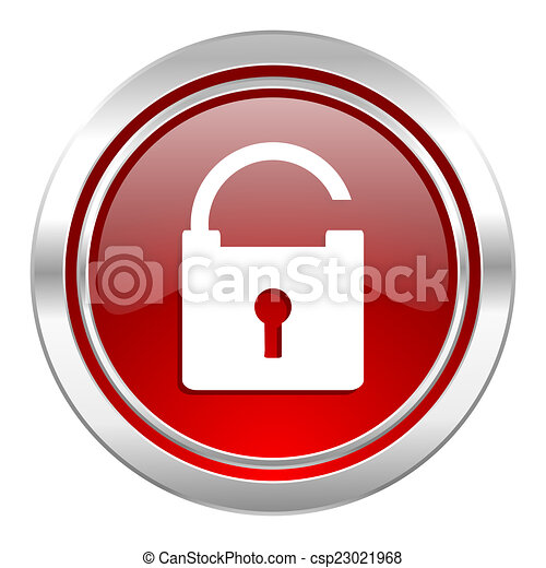 padlock icon, secure sign - csp23021968