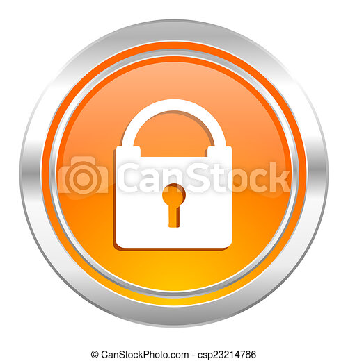 padlock icon, secure sign - csp23214786