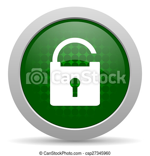 padlock icon secure sign - csp27345960