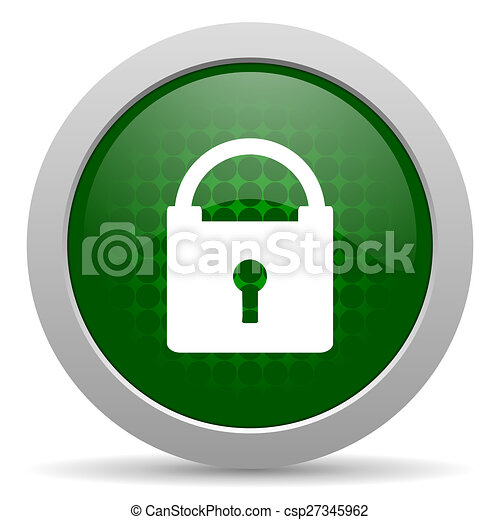 padlock icon secure sign - csp27345962