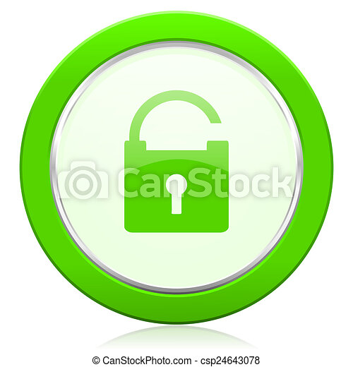 padlock icon secure sign - csp24643078