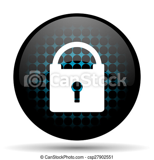 padlock icon secure sign - csp27902551