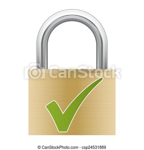 Padlock - Safety - csp24531889