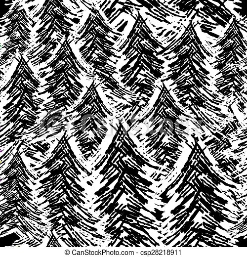 padrão, árvore, seamless - csp28218911