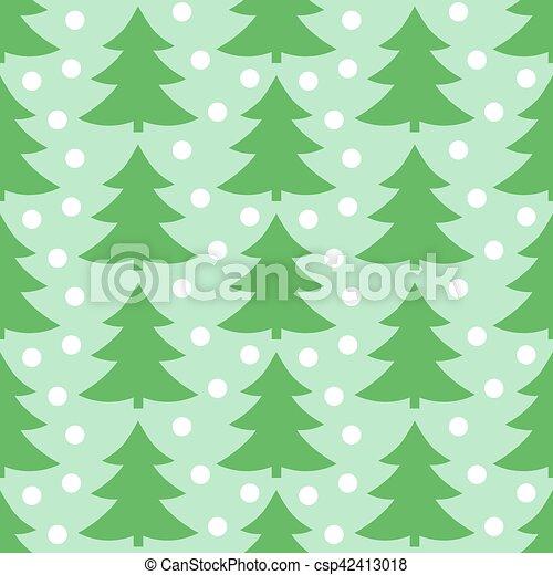 padrão, árvores natal - csp42413018