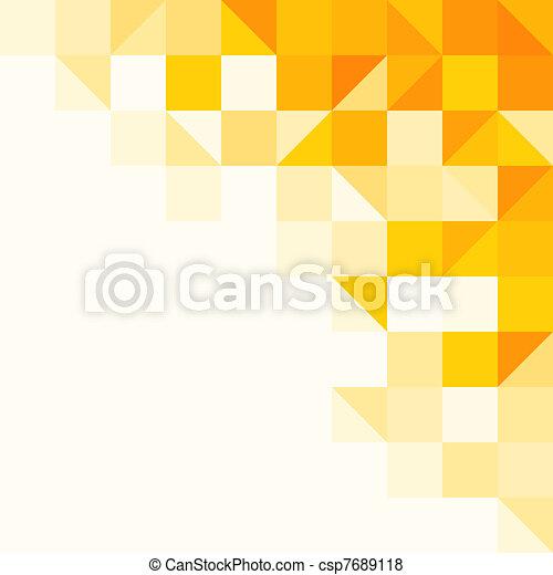padrão, abstratos, amarela - csp7689118