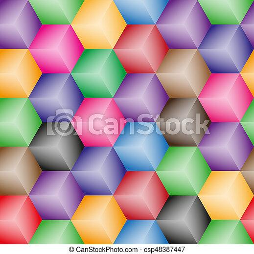 padrão, abstratos, cubos - csp48387447