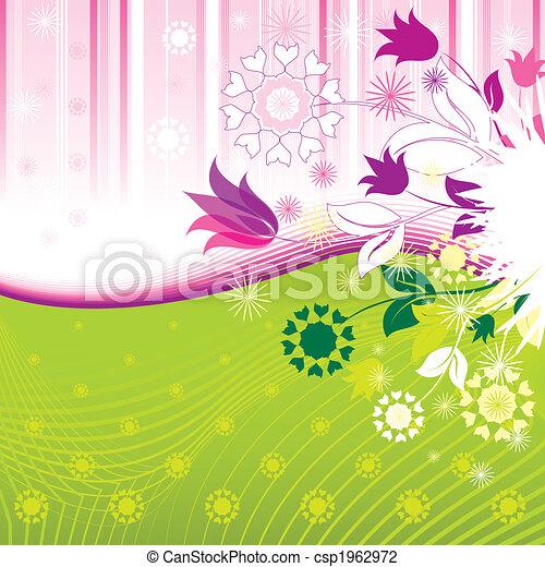 padrão, abstratos, flores - csp1962972