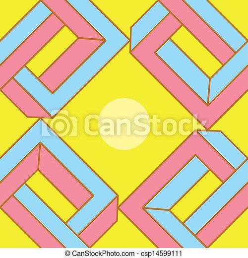 padrão, abstratos, ilusão óptica, seamless - csp14599111