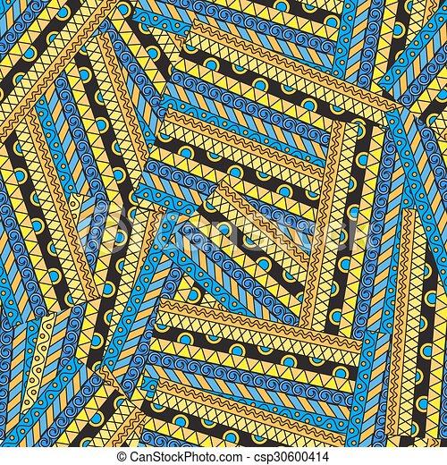 padrão, abstratos, seamless, étnico - csp30600414