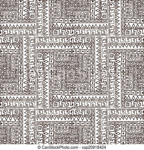 padrão, abstratos, seamless, étnico - csp20918424