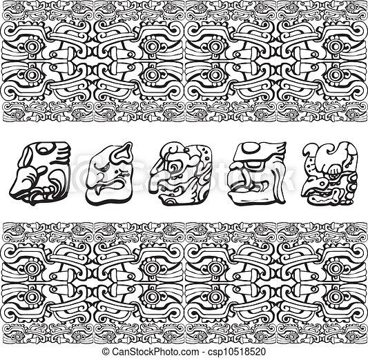 padrão, antiga, ilustração - csp10518520