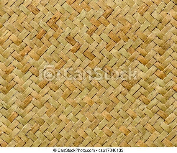 padrão, artesanato, textura, vime, fundo, tecer, natureza - csp17340133