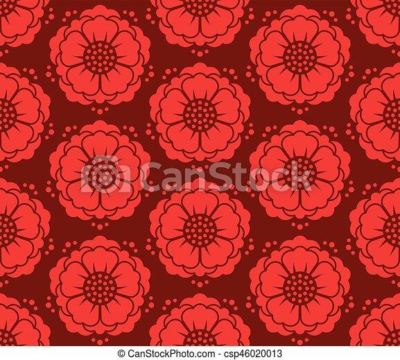padrão, coreano, vetorial, seamless - csp46020013