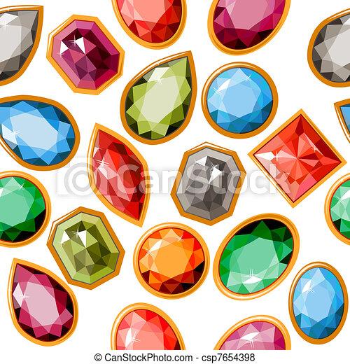 padrão, diferente, seamless, jóias - csp7654398