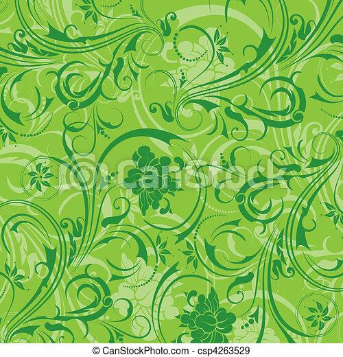 padrão floral, abstratos - csp4263529
