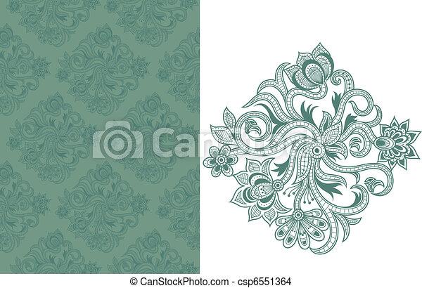 padrão floral, c, seamless - csp6551364