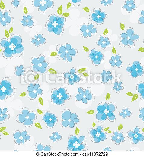 padrão floral, seamless - csp11072729