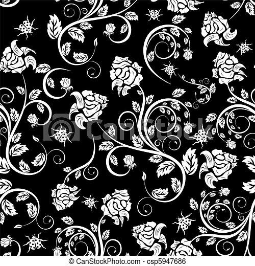padrão floral, seamless - csp5947686