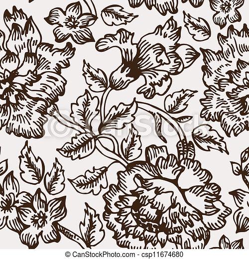 padrão floral, seamless - csp11674680