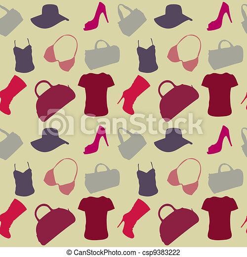 padrão, mulheres, seamless, acessórios - csp9383222