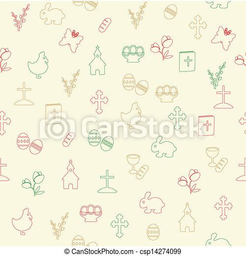 padrão, páscoa, seamless - csp14274099