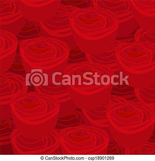Padrão Papel Parede Rosas Vermelhas
