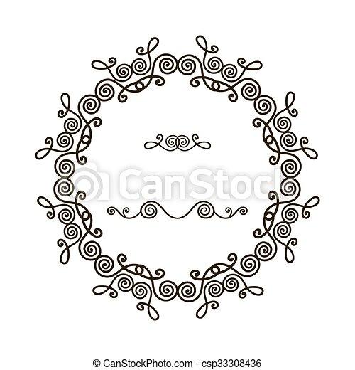padrão, quadro, redondo - csp33308436