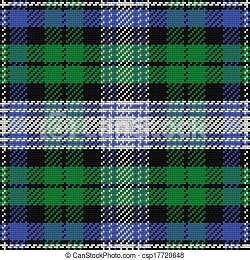 padrão, relógio, seamless, vetorial, pretas, escocês, tartan, 2 - csp17720648