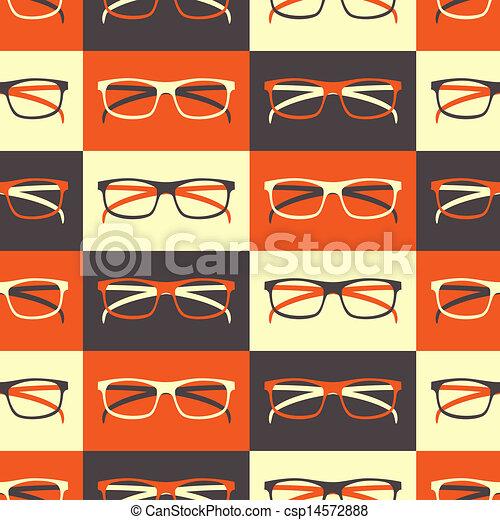 padrão, seamless, óculos - csp14572888